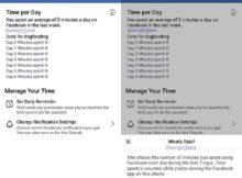 Tính năng mới của Facebook: Đo lường thời gian sử dụng của người dùng